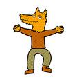 comic cartoon fox man vector image vector image