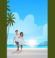 couple in love man woman embracing on tropical vector image vector image