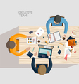 Creative team vector image vector image