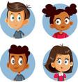 cute happy children cartoon set vector image