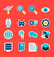 deep learning stickers vector image vector image