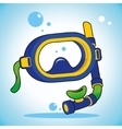 Diving mask vector image vector image