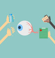 doctors offer treatment for eyes vector image vector image