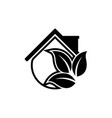 eco house nature logo design template vector image vector image