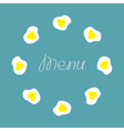 Egg round food frame Menu cover Flat design vector image
