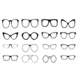 Eyeglasses silhouette set vector image vector image