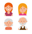 family members avatars characters vector image vector image