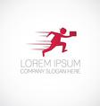 fast running man logo vector image vector image