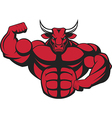 Ferocious bull with a barbell vector image vector image