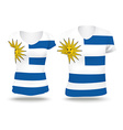 Flag shirt design of Uruguay vector image vector image