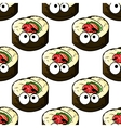 Gourmet sushi seamless pattern vector image vector image