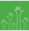 Green Hands vector image