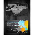 grunge style business card design vector image vector image