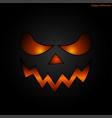 halloween mask face background vector image vector image