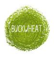 handwritten word buckwheat vector image vector image