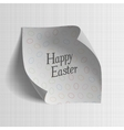 Happy Easter realistic paper greeting Banner vector image vector image