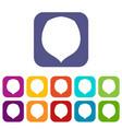 hazelnut icons set flat vector image vector image