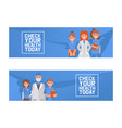 health check up concept vector image vector image