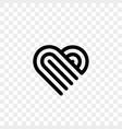 heart logo line art creative icon vector image vector image