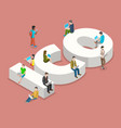 initial coin offering flat isometric vector image vector image