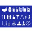 laboratory equipment set of pictogr vector image vector image