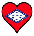 love arkansas vector image vector image