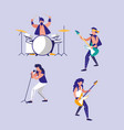 men playing drums avatar character vector image vector image