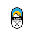 mountain badges logo design vector image vector image