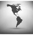 North and South America map on gray background vector image vector image