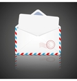 Open envelope with white paper vector | Price: 1 Credit (USD $1)