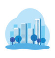 park with cityscape background vector image