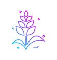 plants icon design vector image vector image