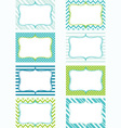 Printable Labels Set Tags Photo Frame Gift Tags vector image vector image