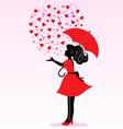rain love vector image