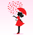 rain of love vector image