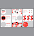 red presentation template vector image vector image