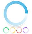 round preloader buffer shape circular progress vector image vector image