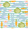 seamless little bunny pattern vector image vector image