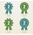 Set of badges with ribbons Set of awards with vector image vector image