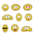 set of cartoon funny emoticons vector image vector image