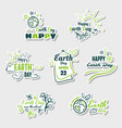 set stickers earth day vector image vector image