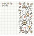 Sport hand draw integrated icons set on paper vector image vector image