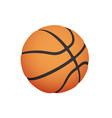 sport icon basketball ball simple flat logo vector image vector image