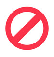stop sign symbol warning stopping icon vector image