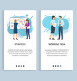 strategy and work task planning and discussion vector image