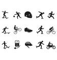 street sport biking skating skateboarding icons vector image vector image