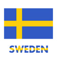 sweden flag over white vector image