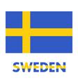 sweden flag over white vector image