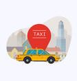 taxi car modern flat creative info graphics vector image