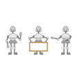 three funky robots vector image